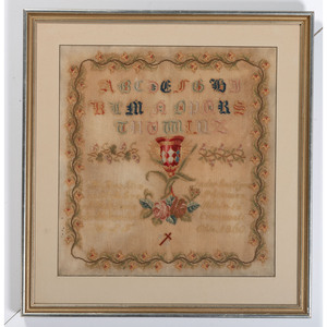 A Cincinnati Needlepoint Alphabet Sampler