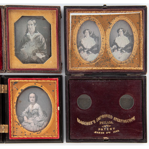Stereodaguerreotype of Young Woman Attrib. to New Orleans Photographer, Plus Other Portraits by Identified Photographers