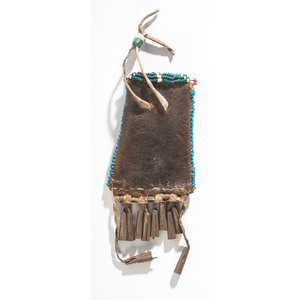 Kiowa Beaded Hide Strike-a-Light Pouch