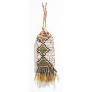 Northern Plains Beaded Hide Pouch