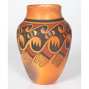 Leah Garcia Nampeyo (Hopi, 1928-1974) Polychrome Pottery Vase