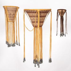 Apache Burden Baskets, with Figures
