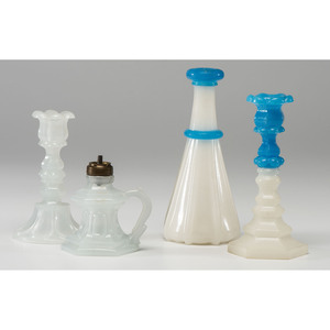 Four Pieces of Clambroth Glass