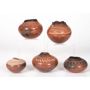 Collection of Santa Clara Sgraffito Pottery