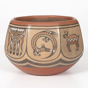 Margaret and Luther Gutierrez (Santa Clara, b. 1936 / 1911-1987) Polychrome Pottery Bowl