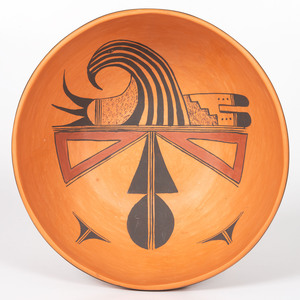 Treva James Burton (Hopi, b. 1929) Pottery Bowl