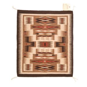 Nictoya Yazzie (Dine, 20th century) Navajo Storm Pattern Weaving / Rug