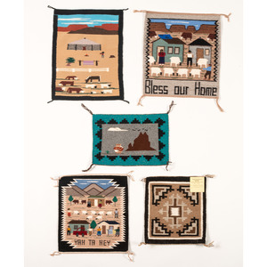 Navajo Pictorial Weaving Samplers/ Rug