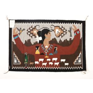 Laverne Begay (Dine, 20th century) Pictorial Weaving / Rug