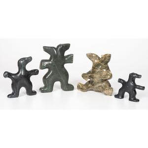 George Arlook (Inuit, b. 1949) Stone Sculptures, Dancing Bears