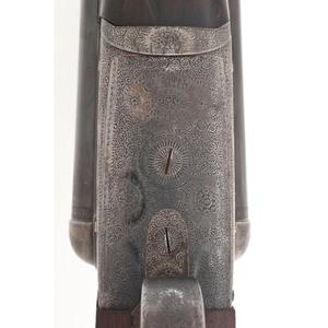 ** Finely Engraved Thomas Kilby English Boxlock  Side By Side 12 Gauge Shotgun