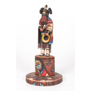 Sterling Macrae (Hopi, 20th century)  Sakwap Mana  Katsina Sculpture