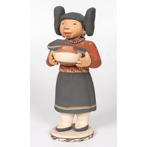 Kathleen Wall (Jemez, 20th century) Pottery Maiden