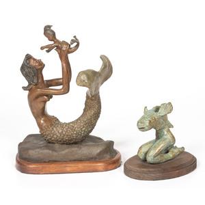 Retha Walden Gambaro (Creek, 1917-2013) Patinated Bronzes