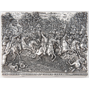 Henryk Winograd, Sheridan at Cedar Creek Sterling Silver Repousse Panel