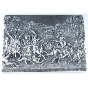 Henryk Winograd, Sterling Silver Repousse Panels of Civil War Battles of the Wilderness and Winchester III