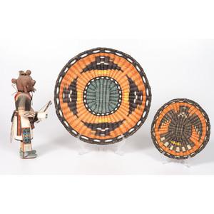 Hopi Third Mesa Basket Trays and Koyemsi