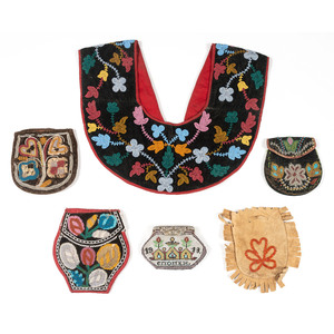Great Lakes Beaded Bags and Shirt Collar