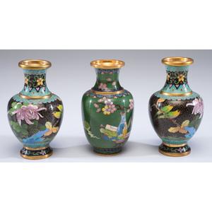 A Group of Cloisonné Vases, Boxes & Accessories