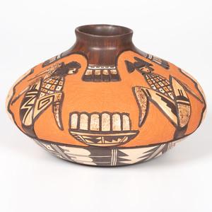 Carla Nampeyo (Hopi, b. 1961) Carved Pottery Jar