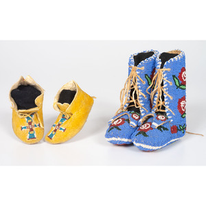 Cheyenne and Plateau Beaded Baby Moccasins