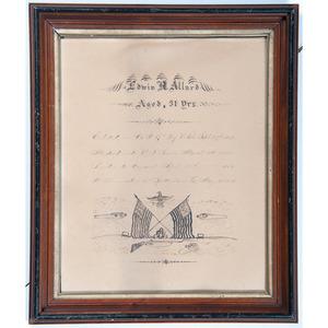 Civil War Folk Art Memorial, ca 1864