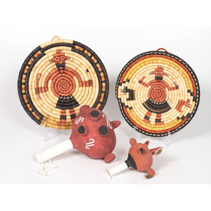 Hopi Koyemsi Rattles and Third Mesa Baskets