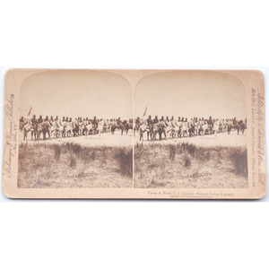 Strohmeyer & Wyman Stereoview, Troop A, 9th U.S. Cavalry, 1898