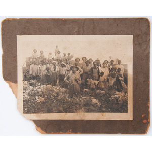Assorted Photographs of African American Subjects, Including Brothers in Mourning, ca 1890s