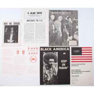 Black Panthers, Scarce Printed Ephemera Concerning Protest and Political Activism, Plus