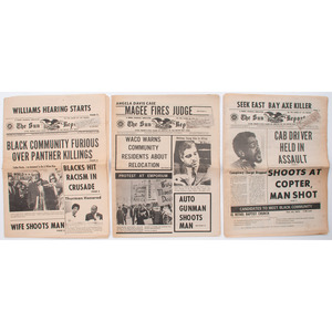 San Francisco Sun-Reporter, Ten Issues Covering Black Panthers, Angela Davis, and More, 1969-1971