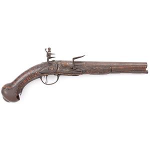 Early European Flintlock Pistol