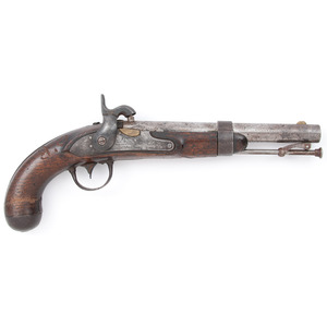 U.S. Model 1836 Waters Pistol Converted To Percussion