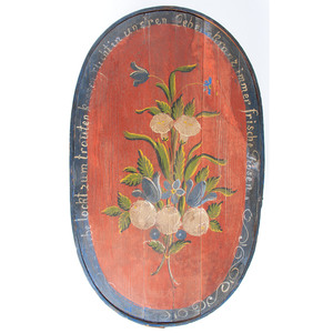 A Painted Bentwood Bride's Box