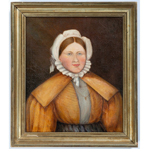 A Folk Art Portrait of a Woman