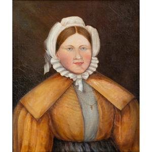 A Folk Art Portrait of a Woman