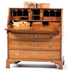 A New Hampshire Chippendale Maple Slant Front Desk