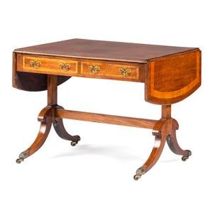 An English Regency Mahogany Drop Leaf Writing Table
