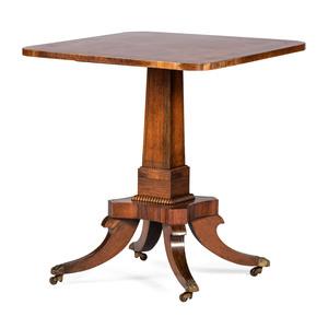 An English Regency Mahogany Center Table