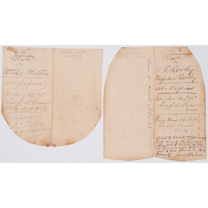 Texas Murderers and Horse Thief, Pair of Arrest Warrants, 1875