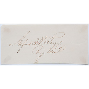 Major General Alfred Terry Clipped Signature, Plus