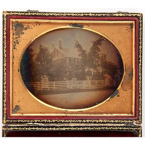 Southworth & Hawes, Quarter Plate Daguerreotype of a House