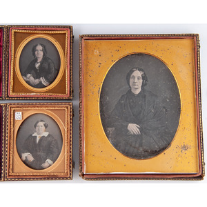 Full Plate Daguerreotype of a Woman by Moissenet, New Orleans, Plus
