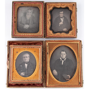 Daguerreotypes of Men by Southern Photographers, Incl. Distinctive Quarter Plate of a Gentleman by Moissenet, New Orleans