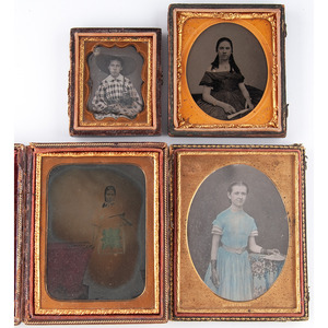 Striking Quarter Plate Daguerreotype of a Young Lady by Whitehurst, Plus