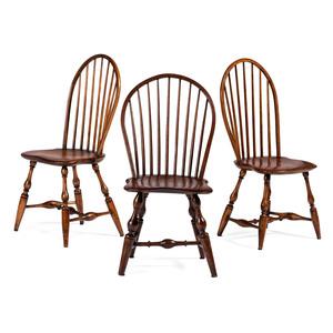 Three Hoopback Windsor Chairs