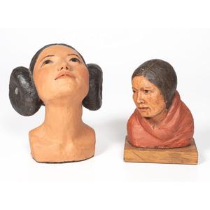 Mary Ann Lohman (American, 20th century) Sculptures of Women