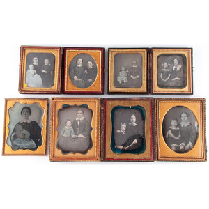 Eight Portraits of Women and Children, Incl. Notable Daguerreotype by Snell of Massachusetts