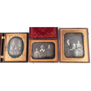 Whole and Half Plate Daguerreotypes of Families