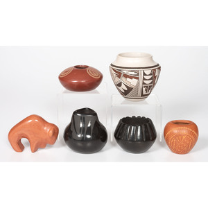 Maynard and Veronica Navasie (Hopi, 20th century) Polychrome Pottery Jar, PLUS